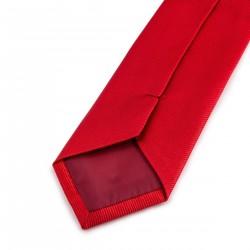 Seidenkrawatte Rot reine Seide uni einfarbig Herrenaccessoire