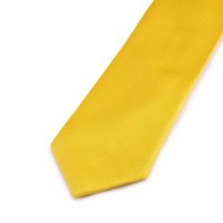 Seidenkrawatte gelb sonnengelb reine Seide uni einfarbig