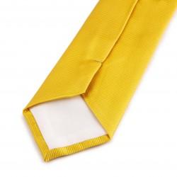 Seidenkrawatte gelb sonnengelb reine Seide einfarbig