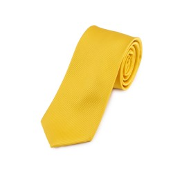 Seidenkrawatte gelb sonnengelb reine Seide unifarben einfarbig