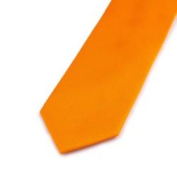 Seidenkrawatte orange, reine Seide, uni, einfarbig