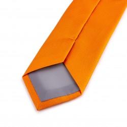 Seidenkrawatte orange, mandarine, reine Seide, einfarbig