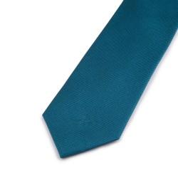 Seidenkrawatte Petrol, blaugrün, reine Seide, uni, einfarbig