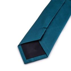 Seidenkrawatte Petrol, blaugrün, reine Seide, einfarbig