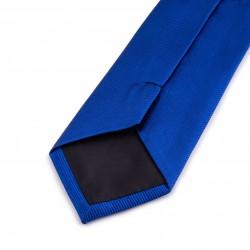 Seidenkrawatte blau dunkelblau königsblau reine Seide einfarbig