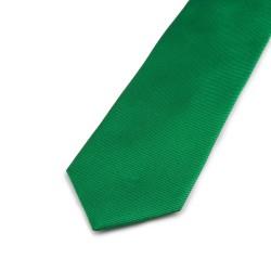 Seidenkrawatte grün reine Seide uni 150x7,5 cm