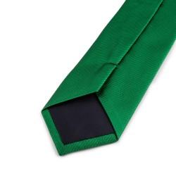 Seidenkrawatte grün reine Seide einfarbig 150x7,5 cm