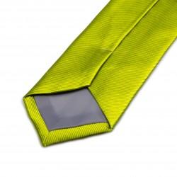 Seidenkrawatte grün limone reine Seide unifarben 150x7,5 cm