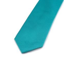 Seidenkrawatte türkisblau blau türkis reine Seide unifarben 150x7,5cm