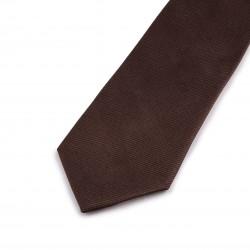 Seidenkrawatte dunkelbraun mokka kaffee reine Seide einfarbig 150x7,5 cm