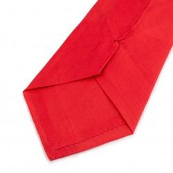 Seidenkrawatte rot paprika reine Seide unifarben einfarbig Herren