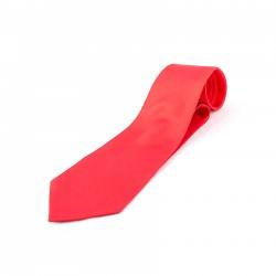 Seidenkrawatte rot paprika 100% reine Seide unifarben einfarbig