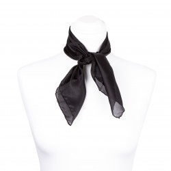 Nickituch Seidentuch schwarz 100% reine Seide 55x55cm Damen einfarbig