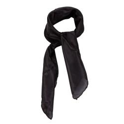 Nickituch Seidentuch schwarz 100% reine Seide 55x55cm