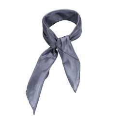 Nickituch Seidentuch grau silber 100% reine Seide 55x55cm Damen