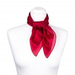 Nickituch Seidentuch rot weinrot bordeaux 100% reine Seide 55x55cm Damen einfarbig