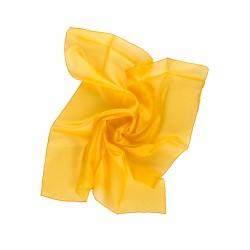 Nickituch indisch gelb 55x55cm reine Seide einfarbig uni