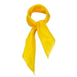Nickituch Seidentuch gelb indischgelb 100% reine Seide 55x55cm