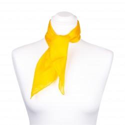 Nickituch Seidentuch gelb indischgelb 100% reine Seide 55x55cm Damen