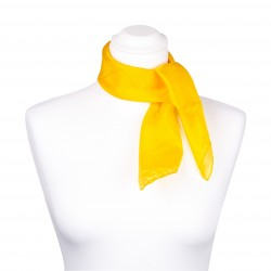 Nickituch Seidentuch gelb indischgelb 100% reine Seide 55x55cm Damen einfarbig