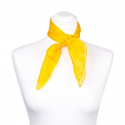 Nickituch Seidentuch gelb indischgelb 100% reine Seide 55x55cm einfarbig