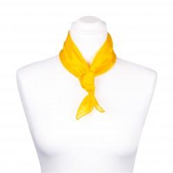 Nickituch Seidentuch gelb indischgelb 100% reine Seide 55x55cm unifarben