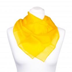 Nickituch Seidentuch gelb indischgelb 100% reine Seide 55x55cm uni einfarbig