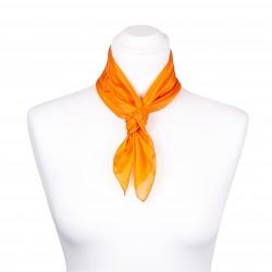 Nickituch Seidentuch orange 100% reine Seide 55x55cm uni einfarbig