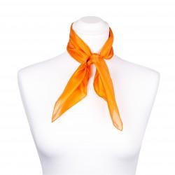 Nickituch Seidentuch orange 100% reine Seide 55x55cm einfarbig