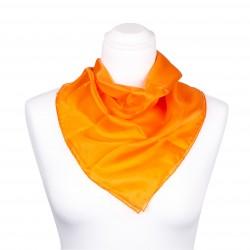 Nickituch Seidentuch orange 100% reine Seide 55x55cm Damen unifarben