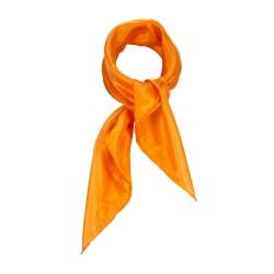 Nickituch Seidentuch orange 100% reine Seide 55x55cm