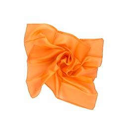 Nickituch 55x55cm orange reine Seide einfarbig uni