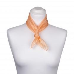 Nickituch Seidentuch apricot aprikose orange 100% reine Seide 55x55cm uni einfarbig