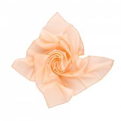 Nickituch 55x55cm apricot aprikose uni einfarbig reine Seide Damen