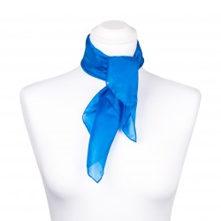 Nickituch blau brillantblau 100% reine Seide 55x55cm unifarben