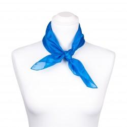 Nickituch blau brillantblau 100% reine Seide 55x55cm einfarbig