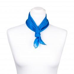 Nickituch blau brillantblau 100% reine Seide 55x55cm uni einfarbig
