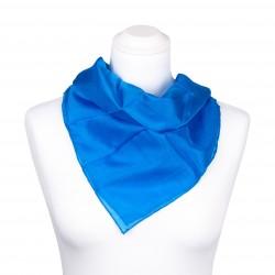 Nickituch blau brillantblau 100% reine Seide 55x55cm Damen