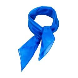 Nickituch blau brillantblau 100% reine Seide 55x55cm Damen uni einfarbig