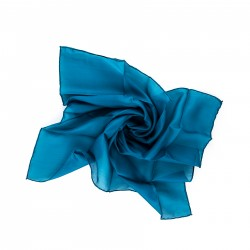Nickituch Petrol Blaugrün 100% reine Seide 55x55 cm