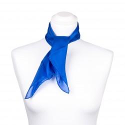 Nickituch Seidentuch royalblau blau dunkelblau 100% reine Seide 55x55cm Damen