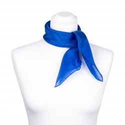 Nickituch Seidentuch royalblau blau dunkelblau 100% reine Seide 55x55cm