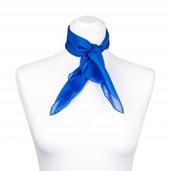 Nickituch Seidentuch royalblau blau dunkelblau 100% reine Seide 55x55cm einfarbig