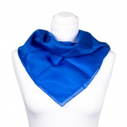 Nickituch Seidentuch royalblau blau dunkelblau 100% reine Seide 55x55cm unifarben