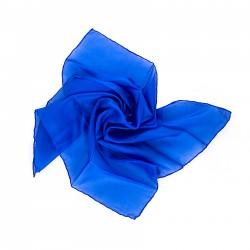 Nickituch 55x55cm royalblau reine Seide einfarbig uni