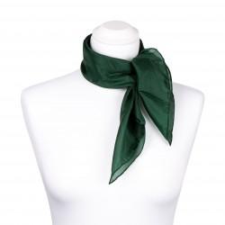 Nickituch Waldgrün Dunkelgrün 100% reine Seide 55x55cm uni einfarbig