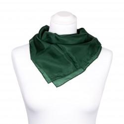 Nickituch Waldgrün Dunkelgrün 100% reine Seide 55x55cm Damen einfarbig