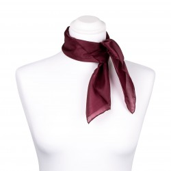 Nickituch Aubergine Bordeaux 100% reine Seide 55x55cm Damen