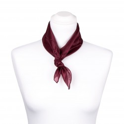 Nickituch Aubergine Bordeaux 100% reine Seide 55x55cm uni