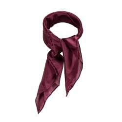 Nickituch Aubergine Bordeaux 100% reine Seide 55x55cm Damen unifarben